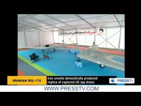 Iran Unveils Advanced Stealth UAV - RQ-170 Sentinel