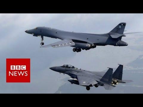 US bombers fly over Korean peninsula - BBC News