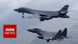 US bombers fly over Korean peninsula   BBC News