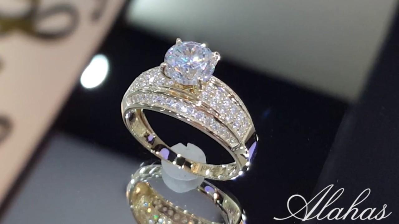 3c7ff6f1ece8 Elegante anillo de compromiso en oro 14k