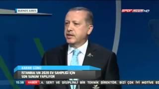 başbakan erdoğan'ın 2020 olimpiyat sunumu -arjantin