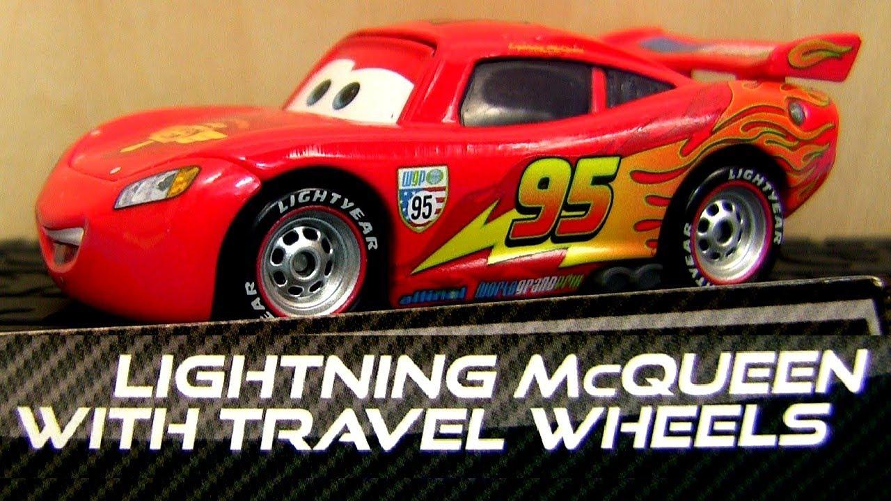 lightning mcqueen with travel wheels   race team fillmore