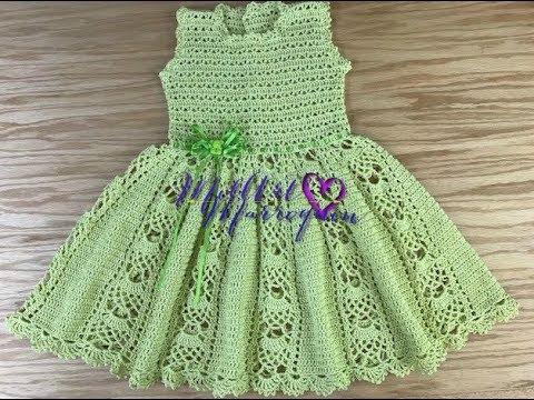 Vestido Crochet Niña 2 A 3 Años Parte 1 De 2