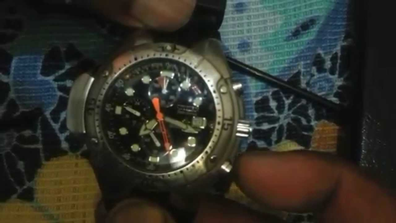 576c27c63b3 Funções do relógio citizen eco drive aqualand - YouTube