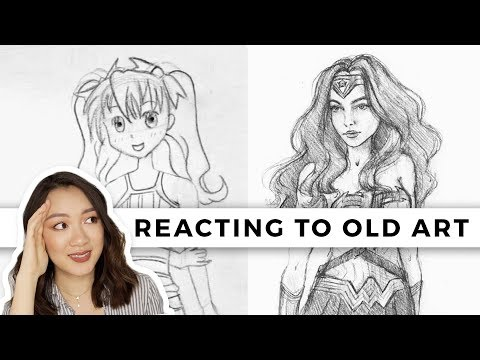 REACTING TO MY OLD ART! | (My Art Evolution!)
