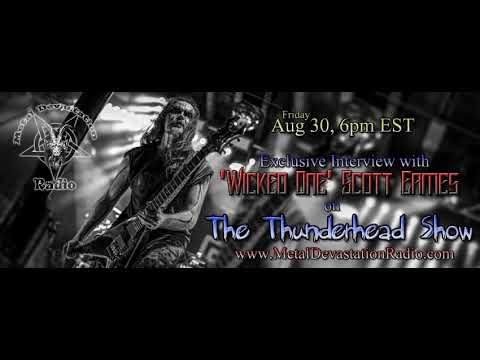 Exclusive Interview With  Wicked One Scott Eames Of Nevalra & Thy Antichrist On The Thunderhead Show