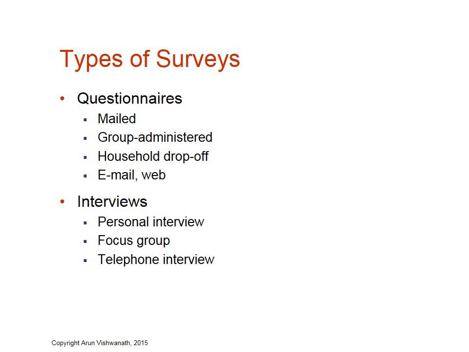 types of surveys methods chapter 7 types of survey research youtube 4240