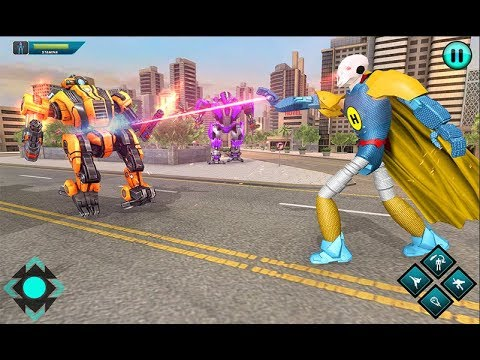 Flying Superhero Laser Robot | Flying Hero Rescue City Car Transform Robot Android GamePlay