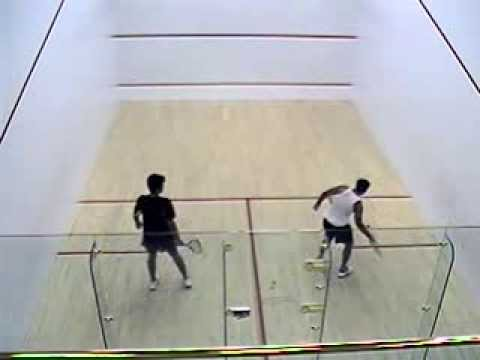 Squash match at ProSports club in Seattle