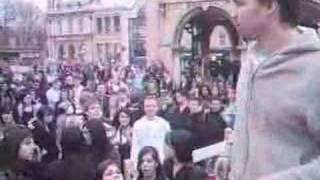 Peterborough - Preacher gets battered by crowd