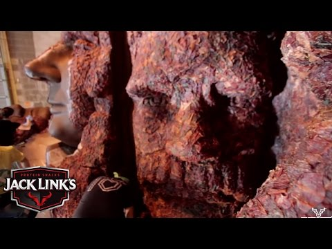 The Meat Rushmore, a Large-Scale Replica of Mount Rushmore Made Out of Jerky