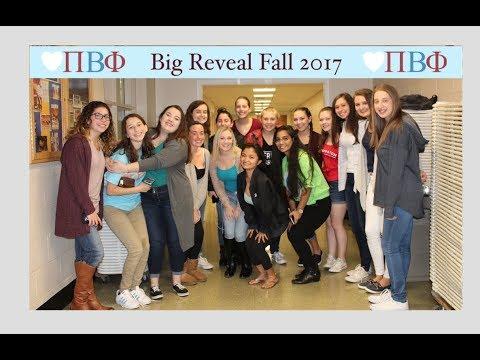 Pi Beta Phi Big Reveal 2017 |Quinnipiac University|