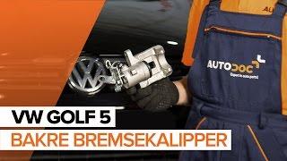 Hvordan skifte Kaliper på VW GOLF V (1K1) - videoguide