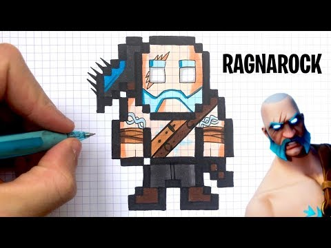 Como Dibujar Ragnarock Pixel Art Fortnite Youtube