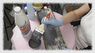 Смотрите как сделать и покрасить коллером бумажные трубочки
