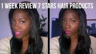 1 Week review 7 Stars Hair Products Aliexpress