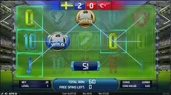 NETENT Football Champions Cup Slot REVIEW Featuring Big Wins With FREE Coins