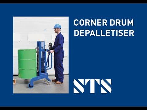 STS - Corner Depalletiser Drum Trolley (DTP05) Lift Drum Off Pallet
