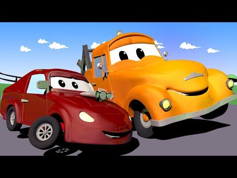 Tom la Dépanneuse dans la Ville des Voitures 🚗 Bébé Jerry la VOITURE DE COURSE conduit trop vite !