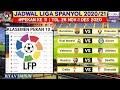 Jadwal liga spanyol malam ini pekan 11 | Barcelona vs Osasuna | Klasemen La liga spanyol 2020 | Live