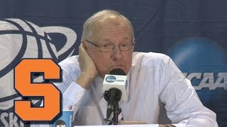 Syracuse Talks 3rd Round Loss to Dayton | 2014 NCAA Tournament