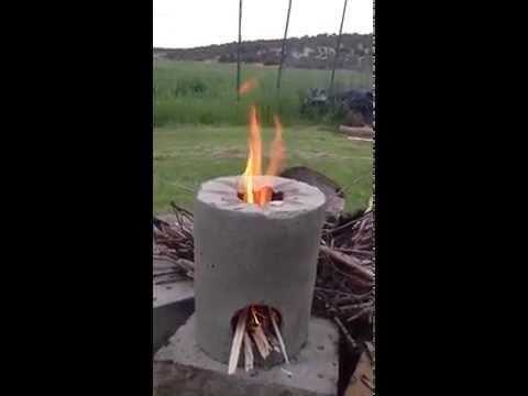 DIY Inexpensive Efficient Rocket / Jet type of stove