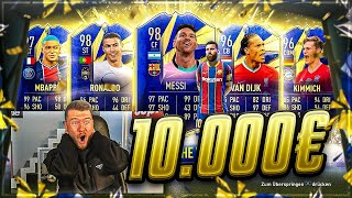 FIFA 21: 10.000€ TOTY PACK OPENING 😱😱 MESSI TEAM OF THE YEAR JAGD