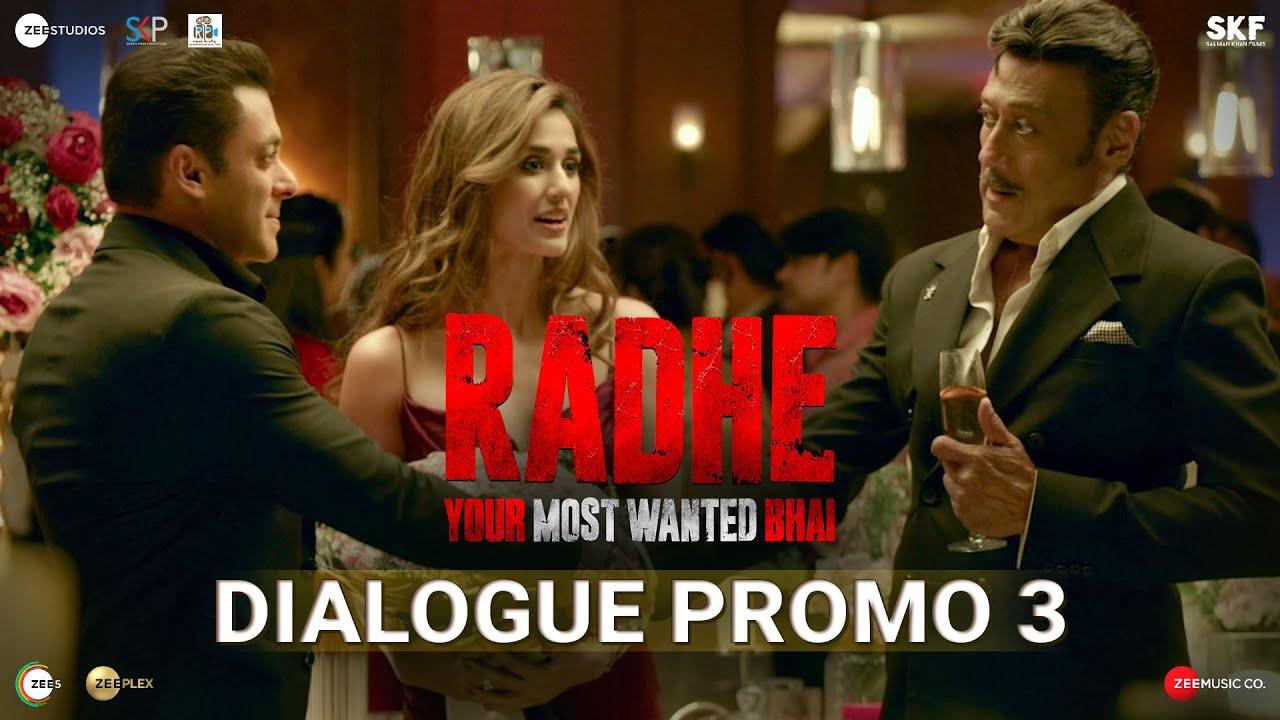 Radhe: Dialogue Promo 3 | Salman Khan | Jackie Shroff | Disha Patani | Prabhu Deva | 13th May