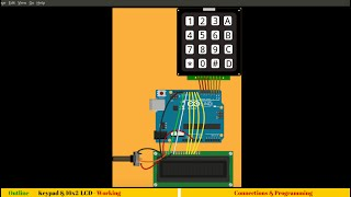 11. Interfacing 4x4 matrix keypad and 16x2 LCD with Arduino