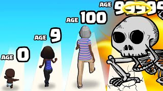 GROWING from A BABY to MAX LEVEL SKELETON in Life Runner 3D