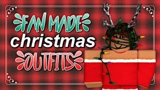 FAN MADE ROBLOX CHRISTMAS OUTFITS!