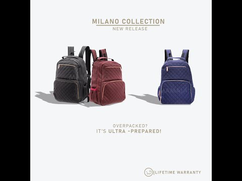 Mamaland Princeton Milano 2.0 Waterproof Lightweight Baby Mommy Diaper Bag with Lifetime Warranty