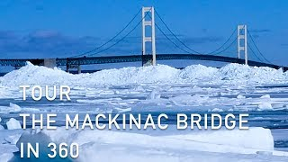 Tour the Mackinac Bridge in 360° Degree Video During the Winter Season