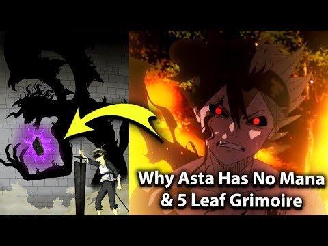 the real Reason Asta has NO MAGIC & 5 Leaf Grimoire -  The MIND BLOWING HISTORY In Black Clover
