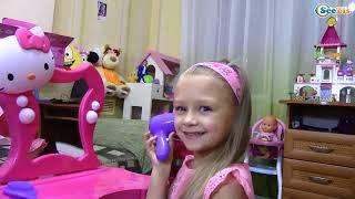 Хелло Кітті Туалетний Столик Розпакування Відео для дітей Hello Kitty Toys Unboxing