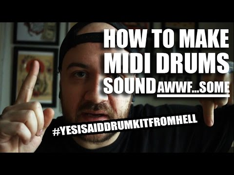 HOW TO MAKE GOOD AND REALISTIC SOUNDING MIDI DRUM PLUGIN WITH LOGIC!