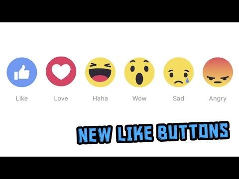 NEW FACEBOOK LIKE BUTTONS. 2016 (DISLIKE BUTTON) FACEBOOK UPDATE