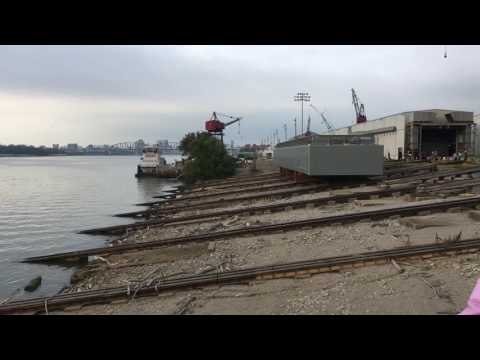Barge launch at ACBL/Jeff Boat