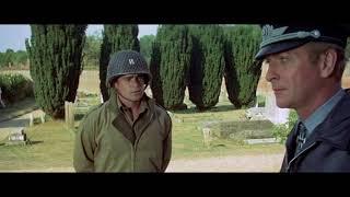 Орел приземлился (1976).  Бой между американскими солдатами и немецкими парашютистами