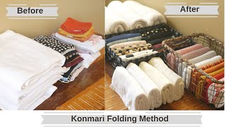 Konmari Method: How to fold clothes using the konmari method  Konmari Folding Technique