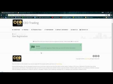 How to Register with CEO Trading