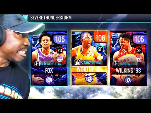 ⚡️ SEVERE THUNDERSTORM PACK OPENING! NBA Live Mobile 20 Season 4 Ep. 71