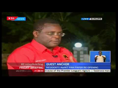 Friday Briefing: Guest Anchor; Bungoma Governor Kenneth Lusaka 14/10/2016