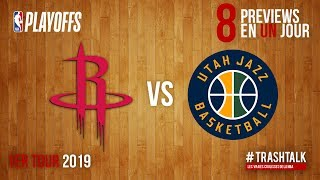 NBA Playoffs 2019 : Rockets - Jazz, la preview !