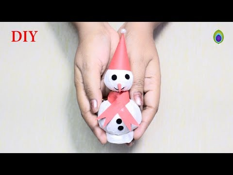 How To Make Tissue paper Snowman In 5 minute || DIY Snowman
