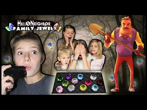 Hello Neighbor STOLE our JEWELS! | Hello Neighbor in REAL LIFE in the DARK with Family Jewels!
