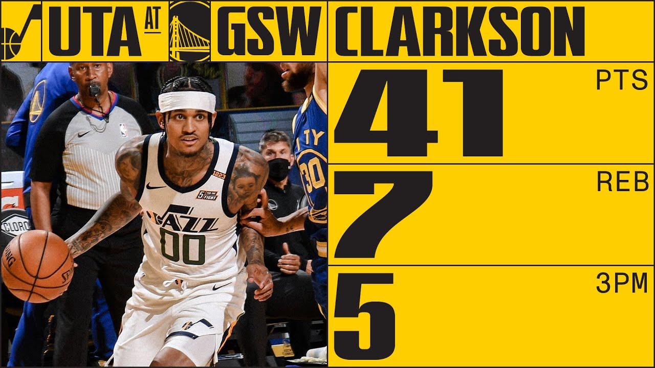 Jordan Clarkson goes for a SEASON-HIGH 41 points vs Warriors | UTAH JAZZ