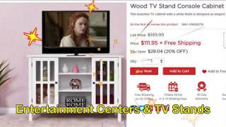 Entertainment Centers for Flat Screen TV Costway