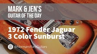Norman's Rare Guitars - Guitar of the Day: 1972 Fender Jaguar in 3 Color Sunburst