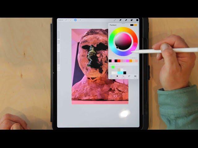 Procreate erklärt: Einfärben von Fotos, Flächen, Linien